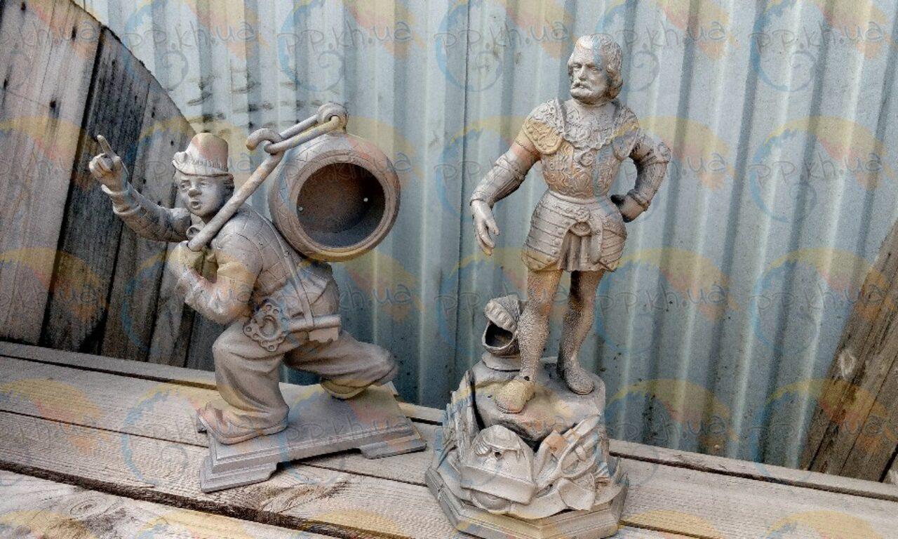 Отпесоченные статуэтки