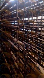 Порошковая покраска ферм в коричневый цвет